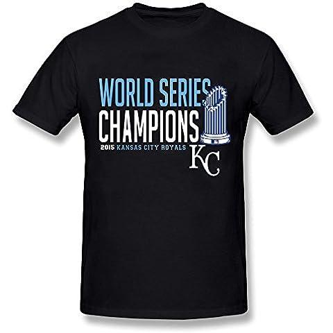 Men's MLB Kansas City Royals KC 2015 World Series T-shirt Black