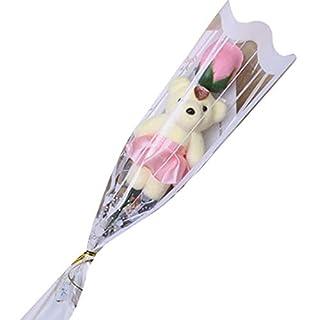 Oplon Rosenblüten Seife Bad Körper Seife Geschenk für Hochzeitstag Valentinstag Jubiläum Seifen