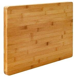 EYEPOWER 3cm Dickes XL Schneidebrett 50x35cm Bambus Holz Schneidbrett Holzbrett