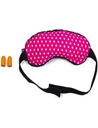 Viaggi Pink microbeads Sleep Mask with ear plugs (PMB009)