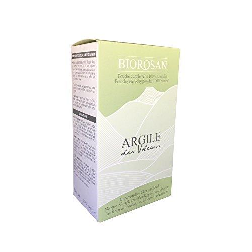 Biorosan - Poudre d'argile verte ULTRA VENTILÉE 100% naturelle- Garantie sans ionisation/Non testé sur des animaux-Pour masques,cataplasmes,eau d'argile et bain douceur-Etui 300G- FABRIQUÉ EN FRANCE