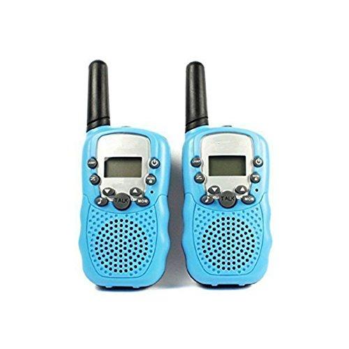 Zulux Set bestehend aus 2 Stück 22-Kanal Twin Walkie-Talkie-2-Way Radio 3 km Reichweite - Kinder Two Way Radios für Kinder Geschenk (Blau)