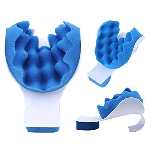 RunJuWuYe Alivio para el Dolor Almohada Cuello y Hombro Músculo Relajante Dispositivo de tracción para la alineación de la Columna Cervical Apoyo para el Cuello Almohada de Viaje
