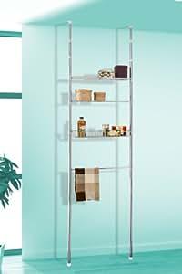 ® bremermann étagère télescopique en acier inoxydable de qualité supérieure, salle de bain, 6520