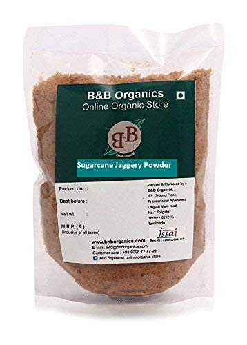 B&B Organics Grinded Sugarcane Jaggery (Powder), 1000 Grams