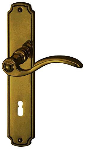 Alpertec Rebeca - LS Messing brüniert für Zimmertüren Drückergarnitur Türdrücker Türbeschläge, 32410023