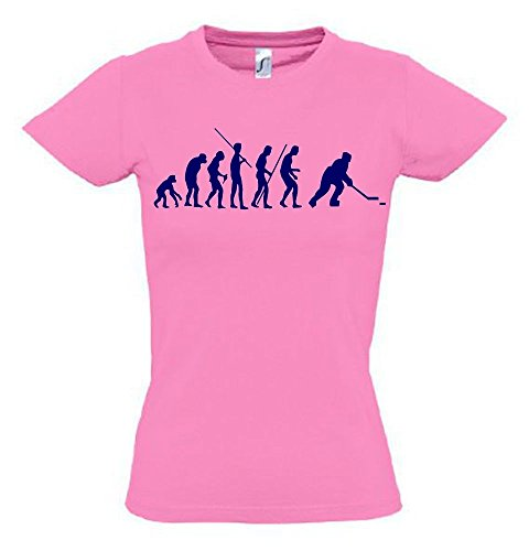 EISHOCKEY Evolution Kinder T-Shirt pink-navy, Gr.164cm