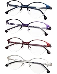 b92dbf1f59c 4-Pack Half-Rim Cat-eye Style Reading Glasses with Spring Hinges