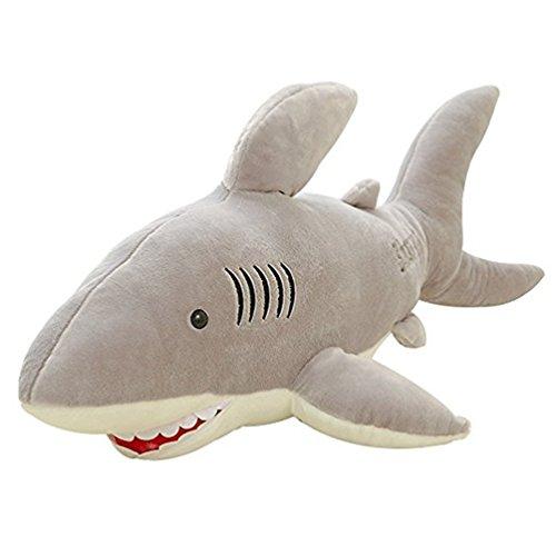 Good Night Dessin animé Géant Requin Blanc Doux Jouet en Peluche Oreiller Couché pour Enfants, 27,6''