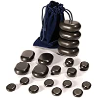 Hot Stone Set von TAOline, 20 Basalt Massagesteine, Einsteiger-Set