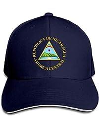 WYICPLO Fashion Baseball Caps Hats Nicaragua National Emblem Sandwich Baseball Cap Dad Hat Sun Hat