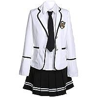 URSRUR Uniforme escolar japonés de niñas chicas traje de marinero de manga  larga traje de cosplay b189de91172
