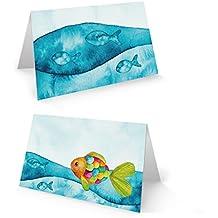 Servietten 16 Stück geprägt ♥ Zeichen der Christen Fisch Taufe Kommunion 33x33cm
