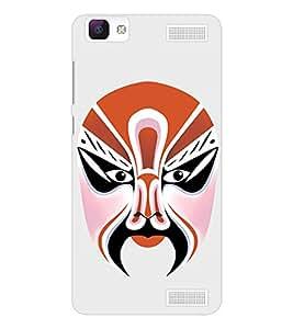 EPICCASE Beijing Opera Orange Mask Mobile Back Case Cover For Vivo V1 Max (Designer Case)