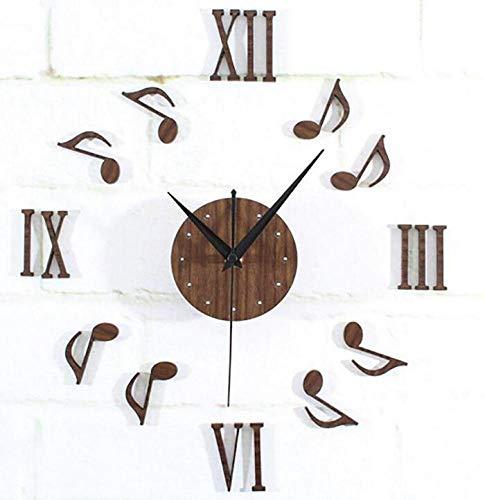 CTO Hinweis Wanduhr Klassische Musik Melodie Kreative Freie Kombination Uhr Nachahmung Ppeach Holz Stille 10 cm,A,Uhr