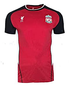 Official LIVERPOOL FC Poly Training Shirt - Mens SMALL (Red) from Offical licensed merchandise of LIVERPOOL FC