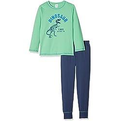 Conjunto de pijamas Sanetta Boys, pijama de manga larga, dinosaurio 104-140 - verde / azul: : 8-9 Years