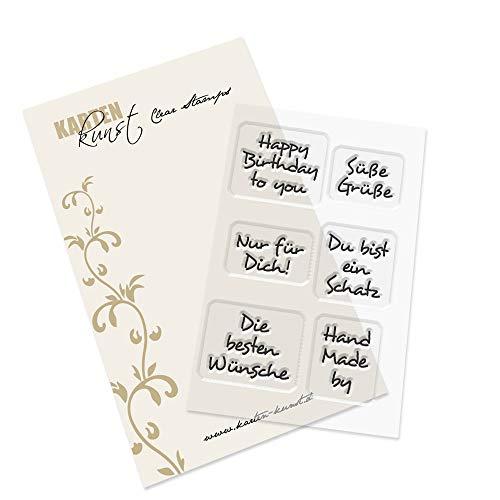 Clear Stamp-Set Mini-Stempel-Gummi Karten-Kunst Inchie-Grüße 2