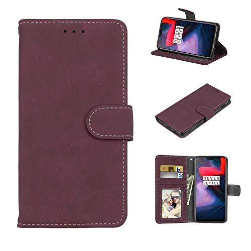 Cofola Für Lenovo Vibe P2 Hülle, Retro Frosted Leder Wallet Schutzhülle Case Cover für Lenovo Vibe P2 [Rose]