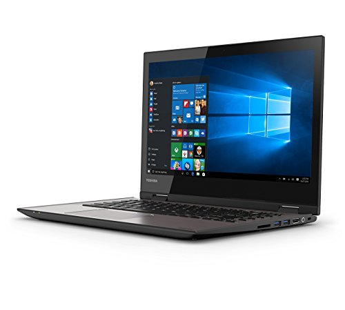 Toshiba Satellite Radius 14 L40W-C-115 35,56 cm (14 Zoll HD) Convertible Laptop (Intel Core i3-5015U, 8GB RAM, 1TB HDD, Intel HD Graphics 5500, Win 10) gebürstetes Aluminiumgehäuse