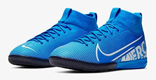 Nike Unisex-Kinder Jr. Mercurial Superfly 7 Academy Ic Fußballschuhe, Mehrfarbig (Blue Hero/White/Obsidian 414), 38.5 EU