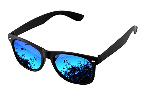 SHVAS UV Protected Wayfarer Unisex mirrored Blue Sunglasses [SGMIRBLU]