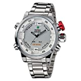 Fashion Watches Schöne Uhren, WEIDE Männer Mode-Analog-Digital-Sport-Uhr-Edelstahl Stoppuhr/Alarm-Hintergrundbeleuchtung/wass
