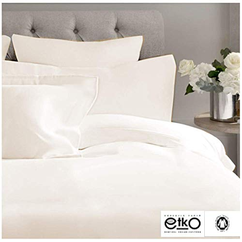Juego de sábanas de ALGODÓN ORGÁNICO 200 hilos. El algodón orgánico aporta una textura suave y natural libre de productos químicos, contribuyendo a un descanso más natural. Mantiene la temperatura de forma uniforme, permitiendo que circule el aire a ...