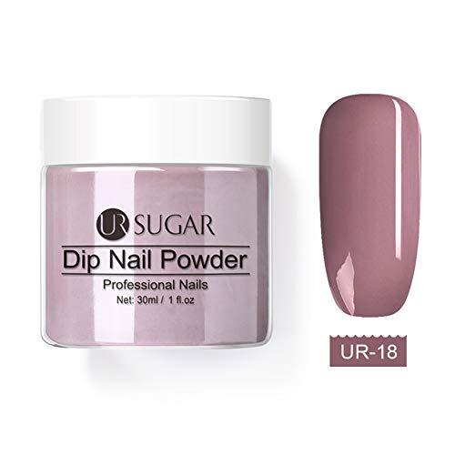 UR SUGAR 30ml/28g Dipping Powder Plongée Powder Couleur Système Poudre de Trempage Acrylique Poudre de Pigment (#18)