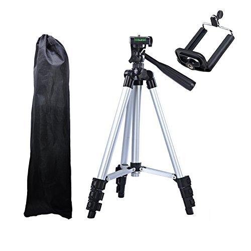 Bps treppiede universale da tavolo per fotocamere, treppiede alluminio leggero 42 inch leggero professionale compatto e portatile