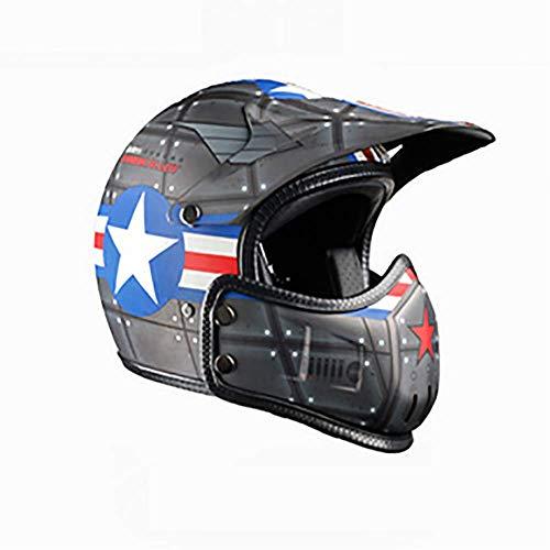 LALEO Removibile Retro Harley Casco da Moto con Goggle, Casco Jet, Adatto per Donna e Uomo Adulto, Omologato ECE S-XXL (55-64cm),Darkgray,M