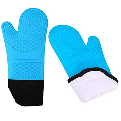 FantaCacy Wärmeisolationshandschuhe, verdicktes, hochtemperaturbeständiges, silikonverlängertes, schräg öffnendes Mikrowellengerät mit Wärmeschutz