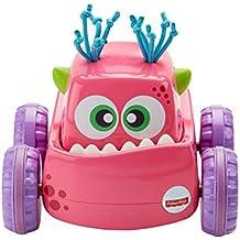 Fisher-Price Coche Monstruito rosa, juguete gateo, bebé +9 meses (Mattel