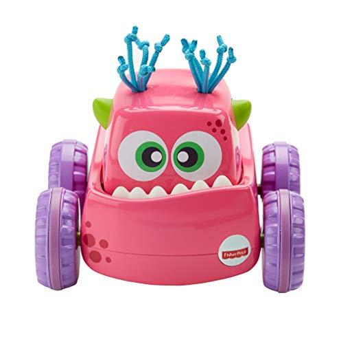 Fisher-Price Coche Monstruito rosa, juguete gateo, bebé +9...