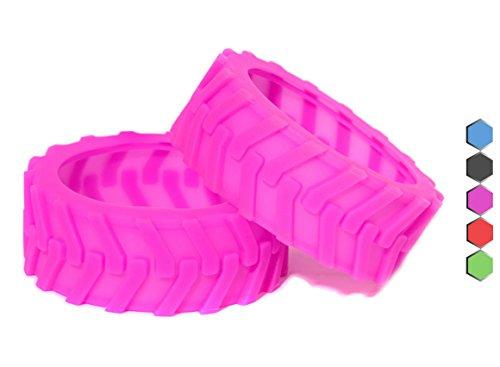 Sphero Ollie Monster Reifen von Hexnub – speziell für Bodenhaftung konstruiert -Pink