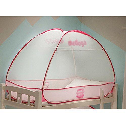 Baby Pop-up Zelt Verschlüsselung Moskitonetz Free Installation Bed Canopy mit drei Öffnungen für Jungen und Mädchen Haus oder Camping Bettwäsche Ultra Fine Mesh Protection ( Farbe : Pink , größe - Bettwäsche Teen Mädchen Rosa