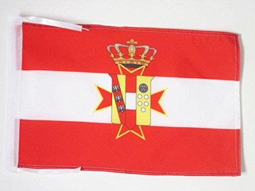 BANDIERA GRANDUCATO DI TOSCANA 1569-1859 45x30cm - BANDIERINA TOSCANA - ITALIA 30 x 45 cm cordicelle - AZ FLAG