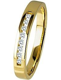 Diamond Line Diamant-Ring Damen 585 Gold mit 8 Diamanten 0.10ct. Lupenrein