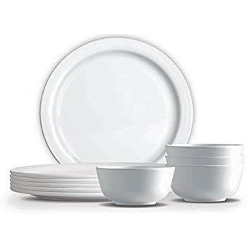 Milton 18 Pieces Lissome Server Set, White,(EC-MLM-FMD-0004_White)