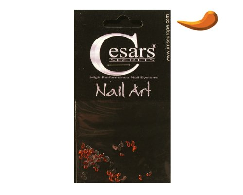 Cesars Nail Art Curve Tear Drops orange