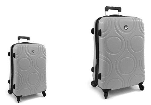 PREMIUM DESIGNER Hardside Luggage set 2 pcs. - Heys Core Eco Orbis Grey Trolley with 4 Wheels Medium + Trolley with 4 Wheels Large 470577031&Core&101+102 (Hardside Gepäck Samsonite)