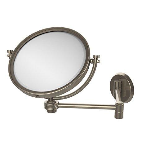 Allied Brass WM-6G/5X-PEW Wandspiegel mit 5-facher Vergrößerung, ausziehbar bis zu 35,6 cm, Zinn Antik-Optik Allied Zinn