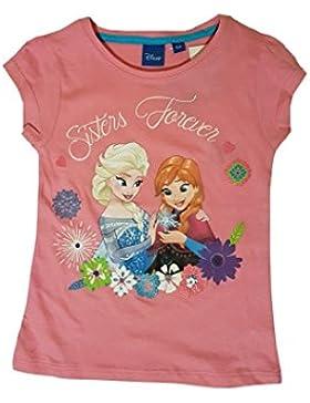 Disney - T-shirt maniche corte Frozen : Il regno di ghiaccio - 6 ANS, Rose