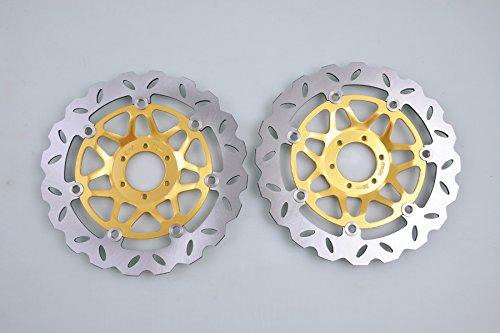 Wotefusi 2 x Disque de Frein Avant pour Honda CBR900 1994-1997 1995 1996 CBR600 1995-1998 RS125 1990-2007 1991 1992 1993 1999 2000 2001 2002 2003 2004 2005 2006 RS250 CBR400 RVF400 VFR750 VFR1000