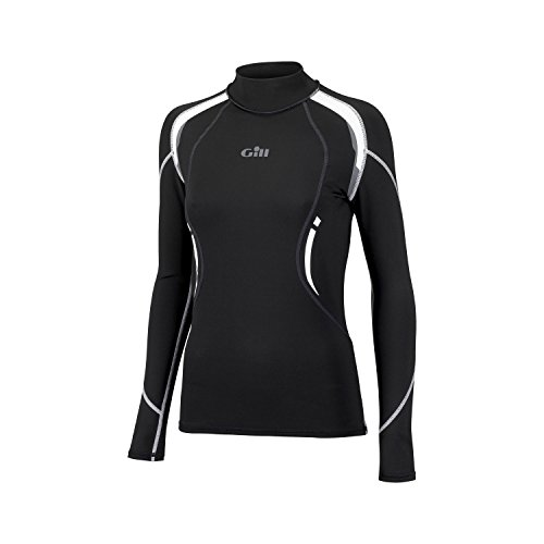 Gill Thermal (Gill Hydrophobe Thermal LADIES Long Sleeve Top BLACK 4521W Sizes- - Ladies 14)