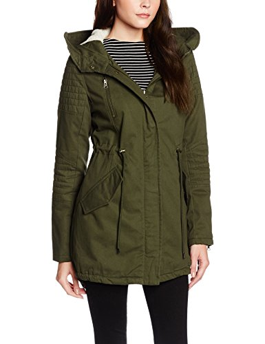 Urban Classics Ladies Sherpa Lined Cotton Parka, Giacca Donna, Grün (Olive 176), 40