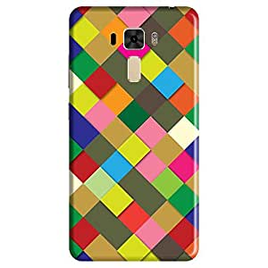 Bhishoom Designer Printed Back Case Cover for Asus Zenfone 3 Laser ZC551KL (5.5 Inches) (Texture And Patterns :: Zigzag :: Stripes :: Geometric :: Checks)