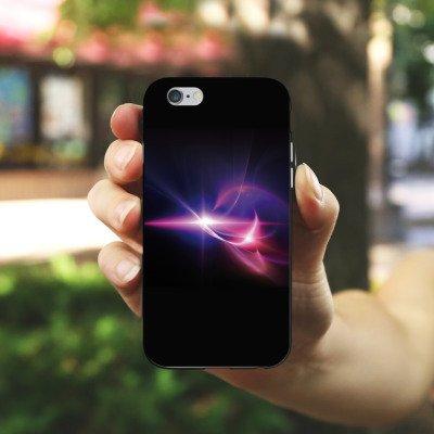 Apple iPhone 4 Housse Étui Silicone Coque Protection Lumière Couleurs Lumières Housse en silicone noir / blanc
