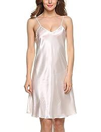 Avidlove Robes de nuit femmes Chemises de nuit en satin nuisette confortable et élégante Taille 34-50(S-XXL)