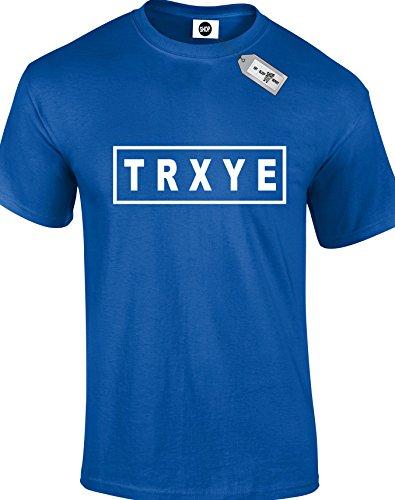 TRXYE Herren Erwachsene Unisex T-Shirt. Königsblau